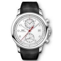 IWC Portuguese Yacht Club Chronograph Ατσάλι 45.4mm Ασημί Αραβικοί