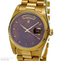Rolex Vintage Day-Date Ref-18038 18k Yellow Gold Wood Dial...