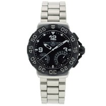 TAG Heuer Men's Formula 1 Calibre S Chrono Black Dial Steel...