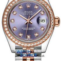 Rolex Lady-Datejust Or/Acier 28mm Violet
