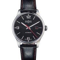 Davosa Gentleman Steel 40mm Black Arabic numerals