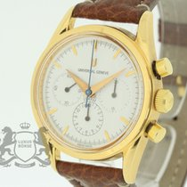 Universal Genève Golden Compax Chronograph 18K Rose Gold...