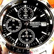 Seiko Chronograaf 38mm Quartz 2010 tweedehands Zwart