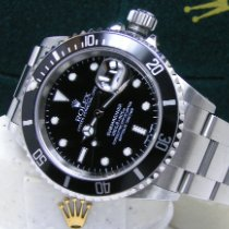 Rolex Men's Steel 40mm Submariner Date Box Books Black Dial Bezel