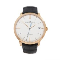Girard Perregaux Rose gold Automatic Silver 40mm pre-owned 1966