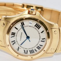 Cartier Yellow gold Automatic Roman numerals 33mm pre-owned Santos Galbée