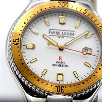 Favre-Leuba new Quartz Center Seconds Screw-Down Crown 39mm Gold/Steel Sapphire Glass
