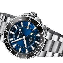 Oris Aquis GMT Date Steel 43.50mm Blue No numerals