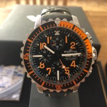 富利斯 鋼 自動發條 Fortis Aquatis Marinemaster Chrono Orange 671.19.49 L.01 二手