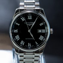 Longines Steel Automatic Black Roman numerals 42mm pre-owned Master Collection