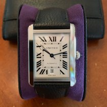 Cartier Tank Solo pre-owned 31mm Silver Fold clasp