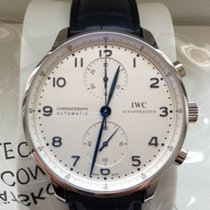 IWC Chronograph 41mm Automatik 2019 neu Portugieser Chronograph Silber