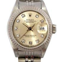 Rolex Datejust Ladies Steel with Silver Diamond Dial Ref: 69174