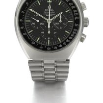 Omega   A Stainless Steel Tonneau Chronograph Wristwatch Ref...
