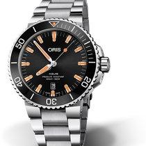 Oris Aquis Date 01 733 7730 4159-07 8 24 05PEB Oris DATE Nero Arancione new