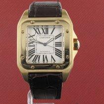 Cartier Santos 100 używany 38mm Biały Wskaźnik roku Skóra
