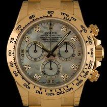 Rolex Daytona Unworn Gold Mother Of Pearl Diamond Dial B&P 116508