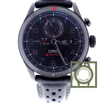 Oris Artix GT Audi Sport Chronograph Black Dial Black Leather...