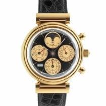 IWC Red gold Automatic Black No numerals 39mm pre-owned Da Vinci Perpetual Calendar