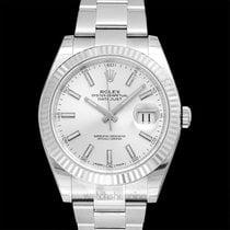 Rolex Datejust Acier 41mm Blanc