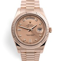 Rolex 218235 Day-Date II - 41mm Everose Diamond Dial