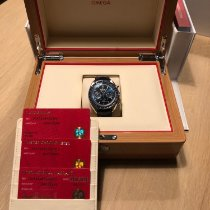 Omega Speedmaster Professional Moonwatch Moonphase gebraucht Blau Mondphase Chronograph Datum Tachymeter Leder
