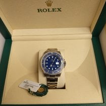 Rolex White gold Automatic Blue No numerals new Submariner Date