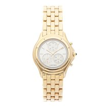 Cartier Cougar Yellow gold 32mm Silver No numerals United States of America, Pennsylvania, Bala Cynwyd