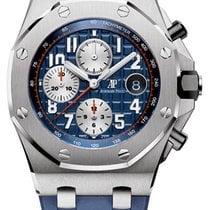 Audemars Piguet Steel Automatic Blue Arabic numerals 42mm new Royal Oak Offshore Chronograph