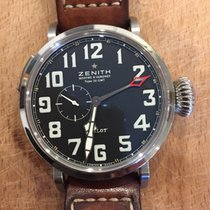 Zenith Pilot Type 20 GMT Acier 48mm Noir Arabes