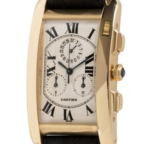 Cartier Tank Américaine Yellow gold 27mm Silver Roman numerals United States of America, Texas, Austin