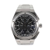 IWC Steel Automatic Black 42mm pre-owned Ingenieur AMG