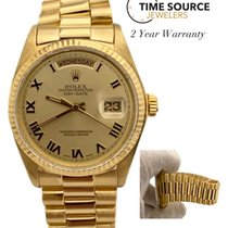 Rolex Day-Date 36 Yellow gold 36mm Gold Roman numerals United States of America, New York, Huntington Village