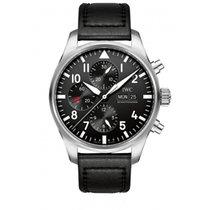 IWC Pilot Chronograph Staal 15mm Zwart