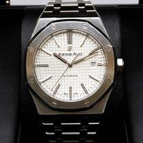 Audemars Piguet 15400ST Royal Oak Automatic 41mm Silver White...