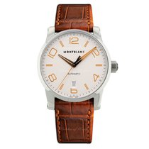 Montblanc Silver Automatic White 39mm new Timewalker