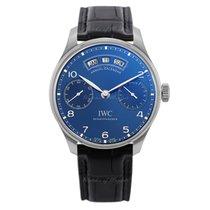 IWC Portuguese Annual Calendar Acier 44.2mm Bleu