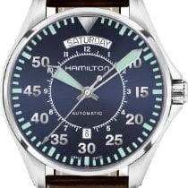 Hamilton H64615545 Acier Khaki Pilot Day Date nouveau