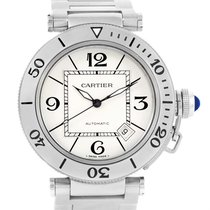 Cartier Pasha Seatimer Automatic Steel Silver Dial Watch W31080m7