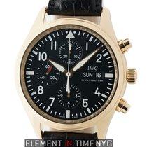 IWC Pilot Collection Pilot Chronograph 18k Rose Gold Black...