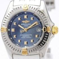 Breitling Callistino 18k Gold Steel Ladies Watch B72345 Bf311853