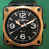 伯莱士 BR01-92 Aviation Type 18K RG with Leather Strap