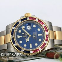 Rolex Submariner Date pre-owned 40mm Date Gold/Steel