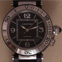 Cartier Pasha Seatimer tweedehands 40mm Zwart Datum Vouw