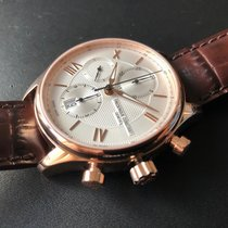 Frederique Constant Chronograph 42mm Automatik 2017 neu Runabout Chronograph Silber