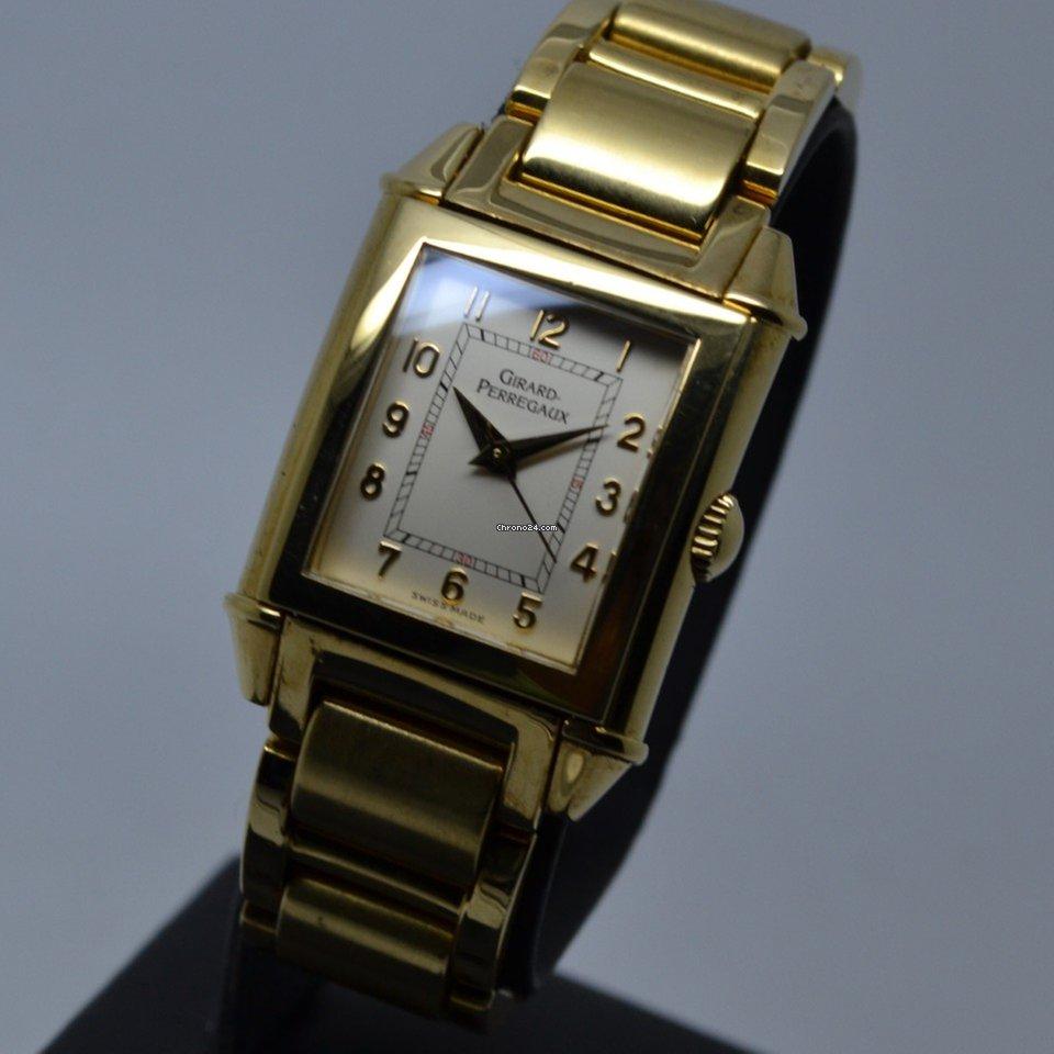 Girard Perregaux Vintage 1945 18K Yellow Gold Quartz Lady