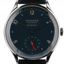NOMOS Minimatik Steel 35.5mm Blue Arabic numerals