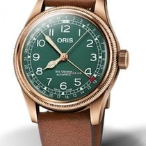 Oris Bronze Automatic Green 40mm new Big Crown Pointer Date