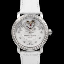 Frederique Constant Steel Automatic Mother of pearl 34mm new Ladies Automatic Double Heart Beat