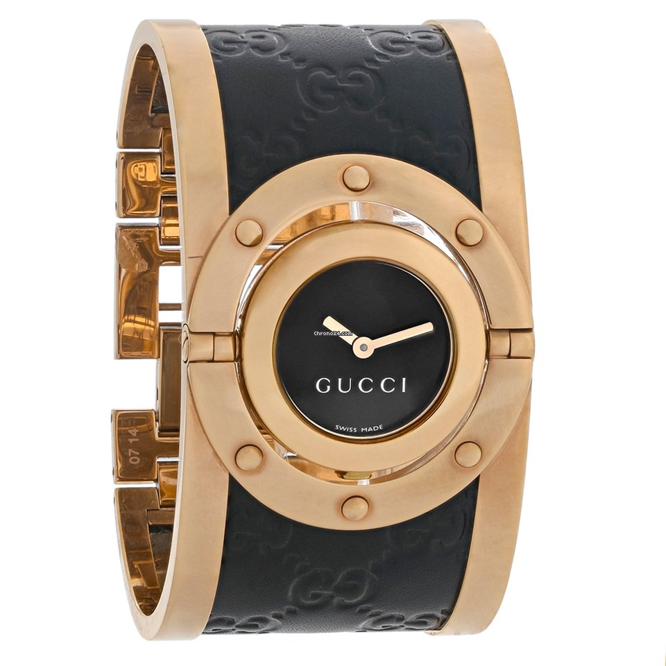 4fa6c64aedf Gucci 112 Twirl Ladies Rose Gold   Leather Strap Quartz Watch... for £448  for sale from a Trusted Seller on Chrono24